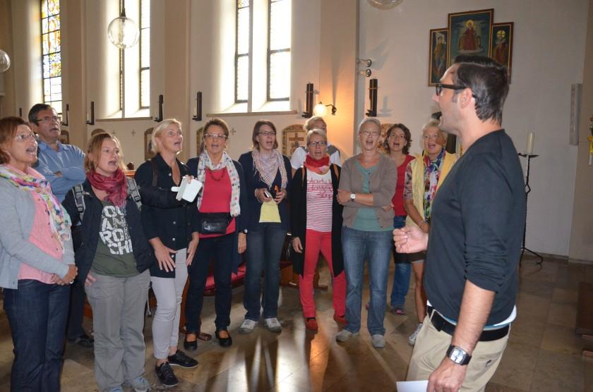 Wir singen in der Hundertwasserkirche Bärnbach